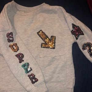 Gray Zara girl collection sweater size 4